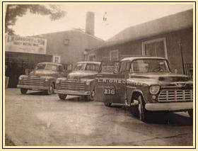 Three Old Pickup Trucks