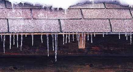 small icicles on roof